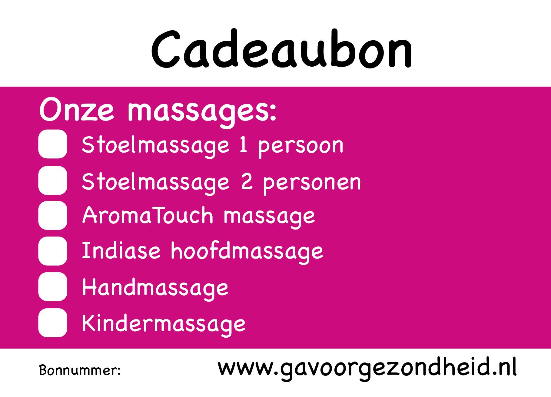 Cadeaubon www.gavoorgezondheid.nl